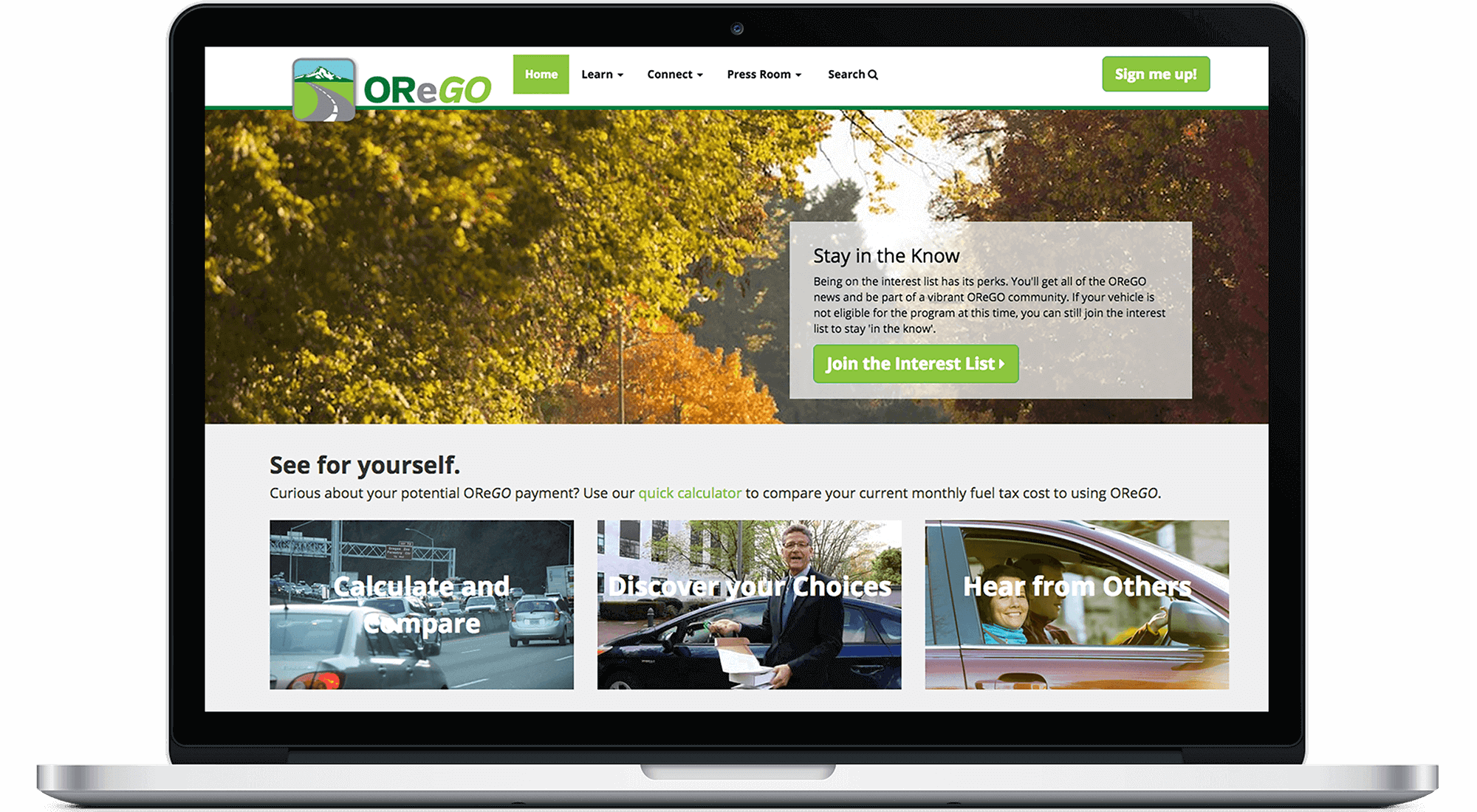 ODOT OReGO Website