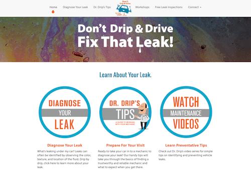 Don't Drip & Drive   Fix Car Leaks website