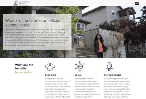 transportationefficient.org - transportation efficient communities webhub