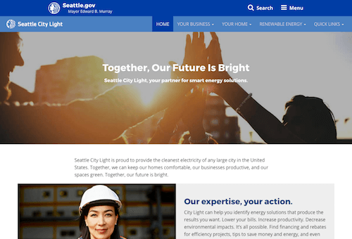WePower, Seattle City Light microsite